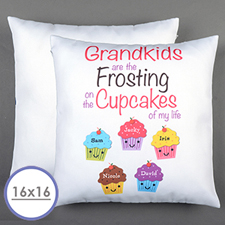 Fünf Cupcakes Personalisierter Kissenbezug 40,6 x40,6 cm