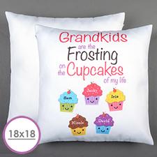 Fünf Cupcakes Personalisierter Kissenbezug 45,7 x 45,7 cm