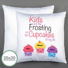 Drei Cupcakes Personalisierter Kissenbezug 50,8 x 50,8 cm