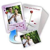 Valentinstag Personalisierte Spielkarten mit Fotos