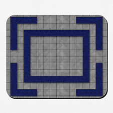Fantasie Spielmatte Gummi Personalisieren 29,0 x 23,9 cm