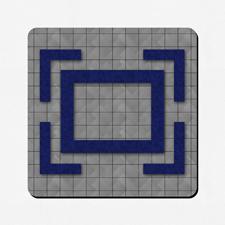 Phantasie Design Spielmatte Gummi Personalisieren Quadrat 45,7 x 45,7 cm