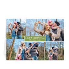 Kollage 4 Fotos Friede, Freude und viel Liebe - Grün