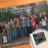Individuelles grosses horizontales Foto-Puzzle, Geburtstag