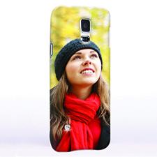 Blau Portrait Hochformat Samsung Galaxy S5 Hülle Personalisieren