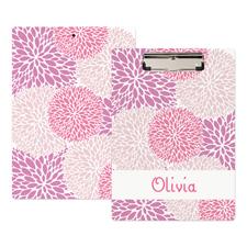 Pink Floral Personalisiertes Klemmbrett