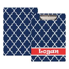 Arabisches Muster Blau Personalisiertes Klemmbrett