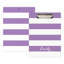 Purple Streifen Personalisiertes Klemmbrett