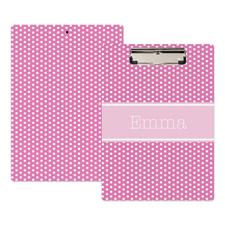 Punkte pink Personalisiertes Klemmbrett
