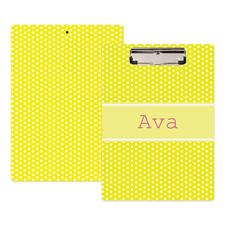 Punkte gelb Personalisiertes Klemmbrett