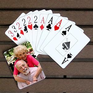 Endlich Urlaub Spielkarten Großdruck