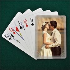 Brautparty Persoanlisierte Foto-Spielkarten Hochformat