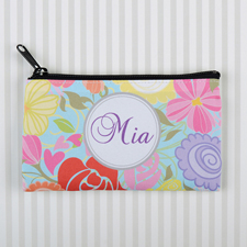 Tropical Floral Personalized Cosmetic Bag
