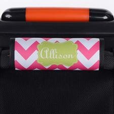 Wellen Pink Grün Personalisierter Kofferanhänger