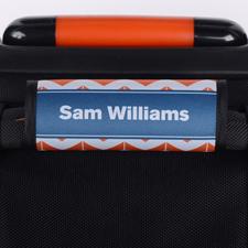 Orange Blau Personalisierter Kofferanhänger