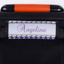 Hahnentritt Purple Personalisierter Kofferanhänger