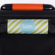 Hellgrüne Streifen Personalisiertes Kofferschild