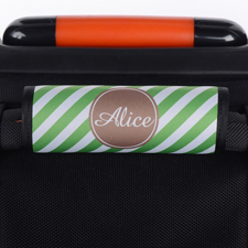 Grüne Streifen Personalisiertes Kofferschild