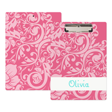 Pink Blumenmuster Personalisiertes Klemmbrett