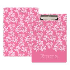 Pink Damast Personalisiertes Klemmbrett