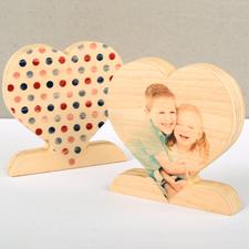 Punkte Pünktchen Fotoherz aus Holz Personalisieren Geschenk