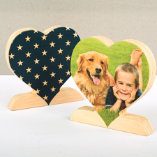 Sterne Träume Fotoherz aus Holz Personalisieren Geschenk