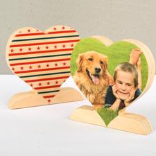 Sterne und Streifen Stars and Stripes Fotoherz aus Holz Personalisieren USA