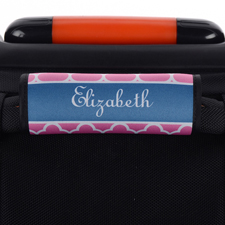 Pinkes Kleeblatt Personalisiertes Kofferschild
