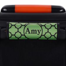 Grünes Kleeblatt Personalisiertes Kofferschild