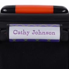 Vierpass Grün Blau Personalisierter Kofferanhänger