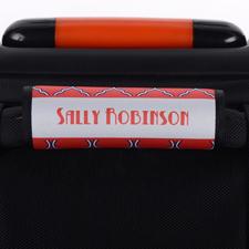 Vierpass Pink Purple Blau Personalisierter Kofferanhänger
