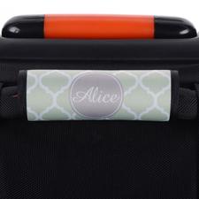 Minze Vierpass Personalisiertes Kofferschild