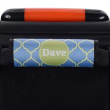 Blau und Grün Vierpass Personalisiertes Kofferschild
