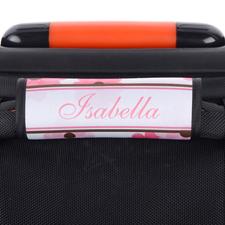Pink Floral Personalisierter Kofferanhänger