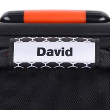 Schwarze Kreise Grau Personalisierter Kofferanhänger