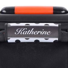 Punkte Schwarz Weiß Personalisiertes Kofferschild