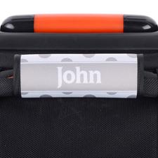 Punkte Schwarz Grau Personalisiertes Kofferschild
