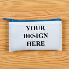 Reißverschluss Blau Kosmetiktasche Personalisieren 8,9 x 15,2 cm Beide Seiten gleich