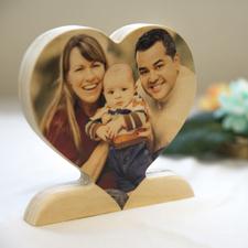Für Mutter Fotoherz aus Holz Personalisieren
