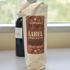 Personalisierte Vierfarbdruck Baumwolle Weintasche