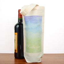 Grün Blau Wasserfarben Personalisierte Weinflaschentasche Selbstgestalten