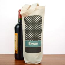 Punkte Pünktchen Weintasche Personalisieren Flaschentaschen Selbstgestalten