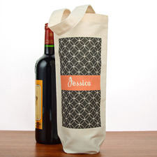 Geometrisches Muster Weintasche Flaschentasche Baumwolle Personalisieren