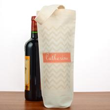Grau Wellen Personaliserte Weintasche Flaschentasche selbstgestalten