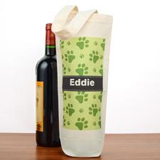 Pfoten Tierfreund Personalisierte Weintasche Flaschentasche