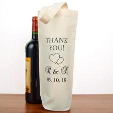 Danke Hochzeitgäste Weintasche Personalisieren Sie Ihre Flaschentaschen