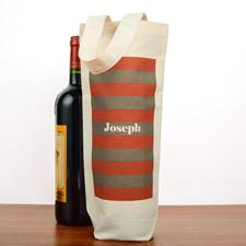 Rot Grau Gestreift Weintasche Geschenk Selbst Gestalten und Personalisieren