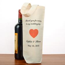 Herz Hochzeit Weintasche Personalisieren