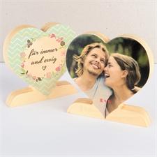 Für Immer und Ewig Fotoherz aus Holz Personalisieren Liebe