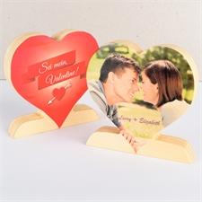 Nicht nur an Sankt Valentin Fotoherz aus Holz Personalisieren